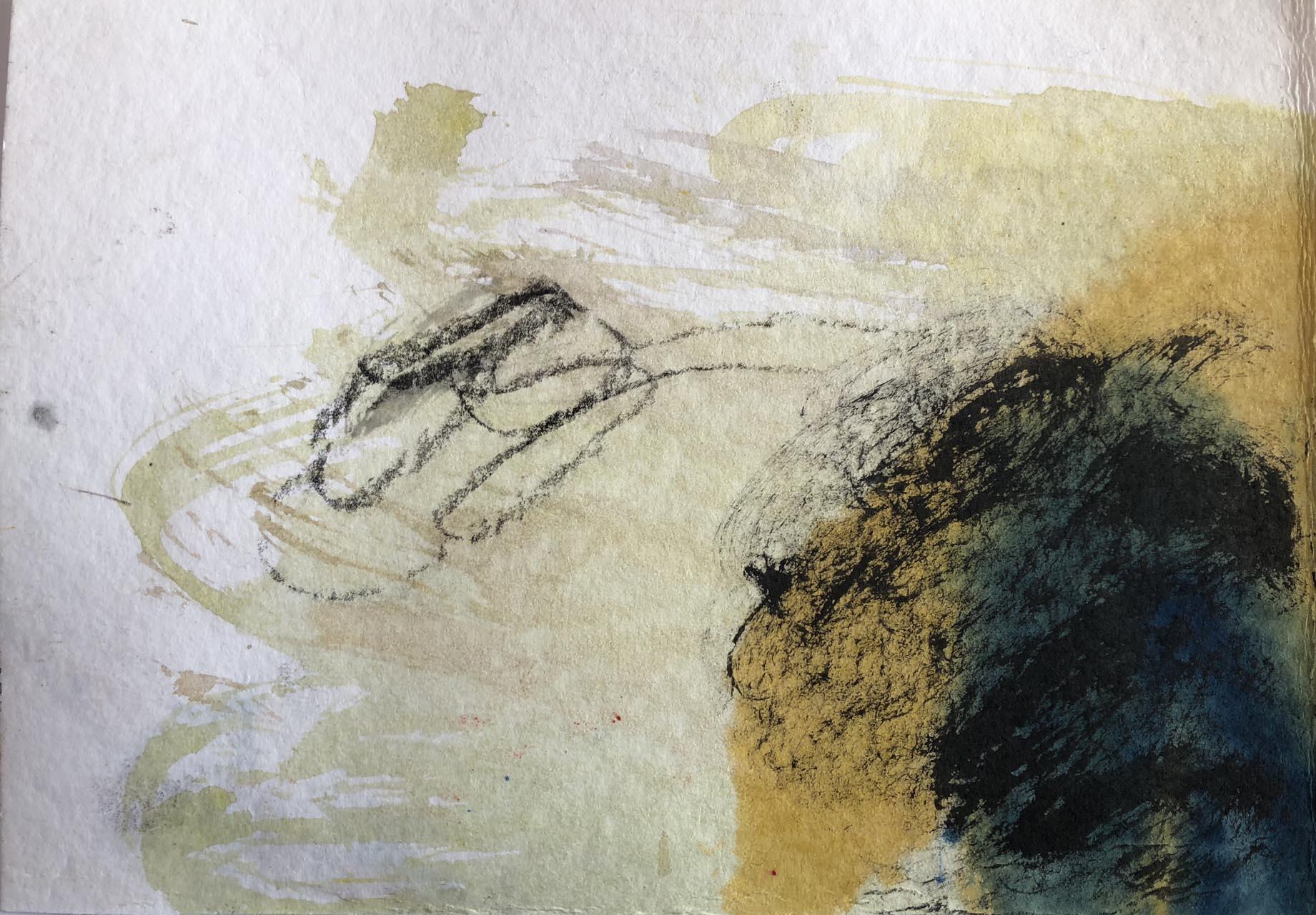 Die Spur-Giruli 1-Aquarell-15×20- 2018