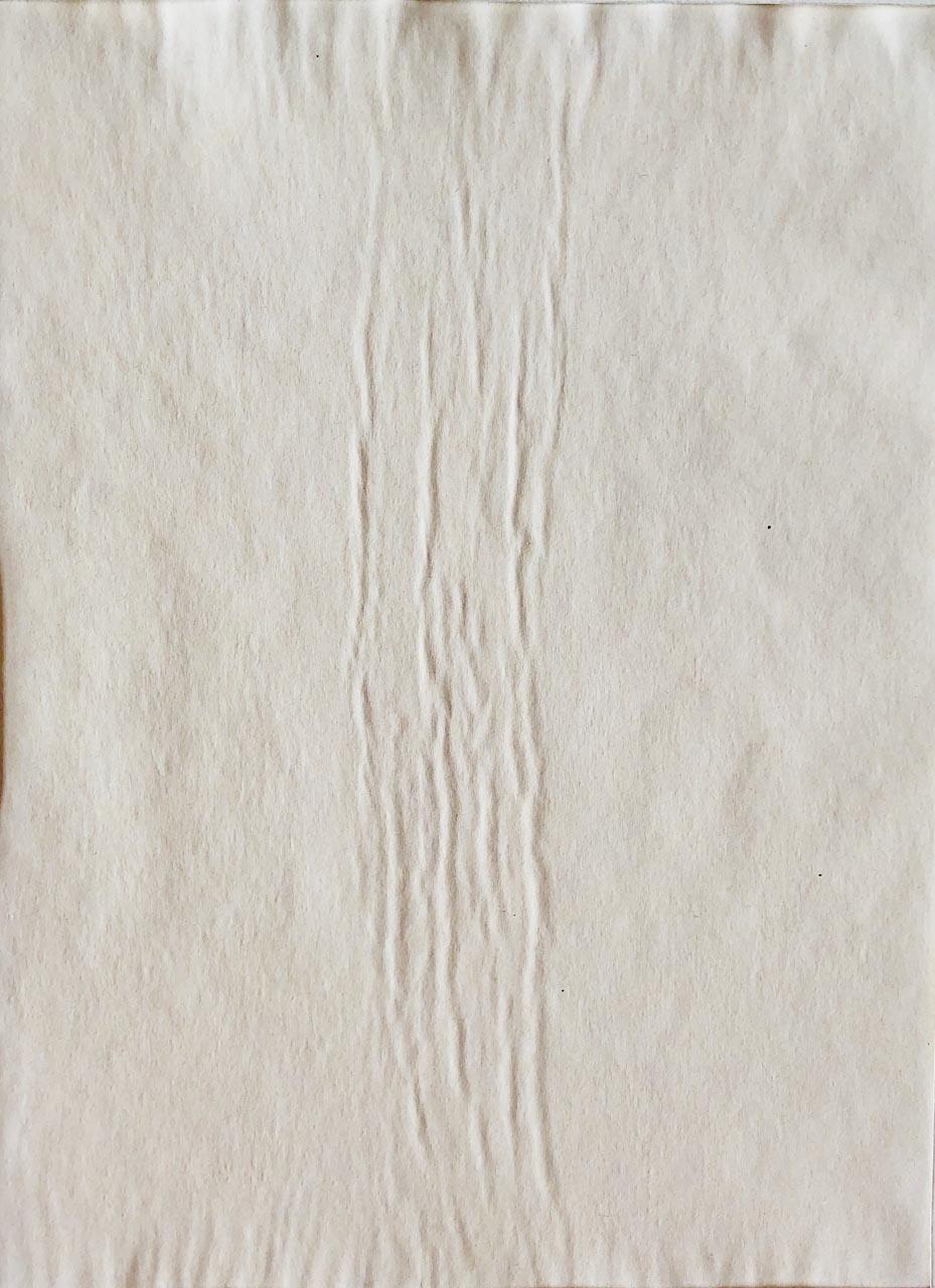 Geschöpftes Papier-Weiss 2 -Drucktechnik-20×30-2016