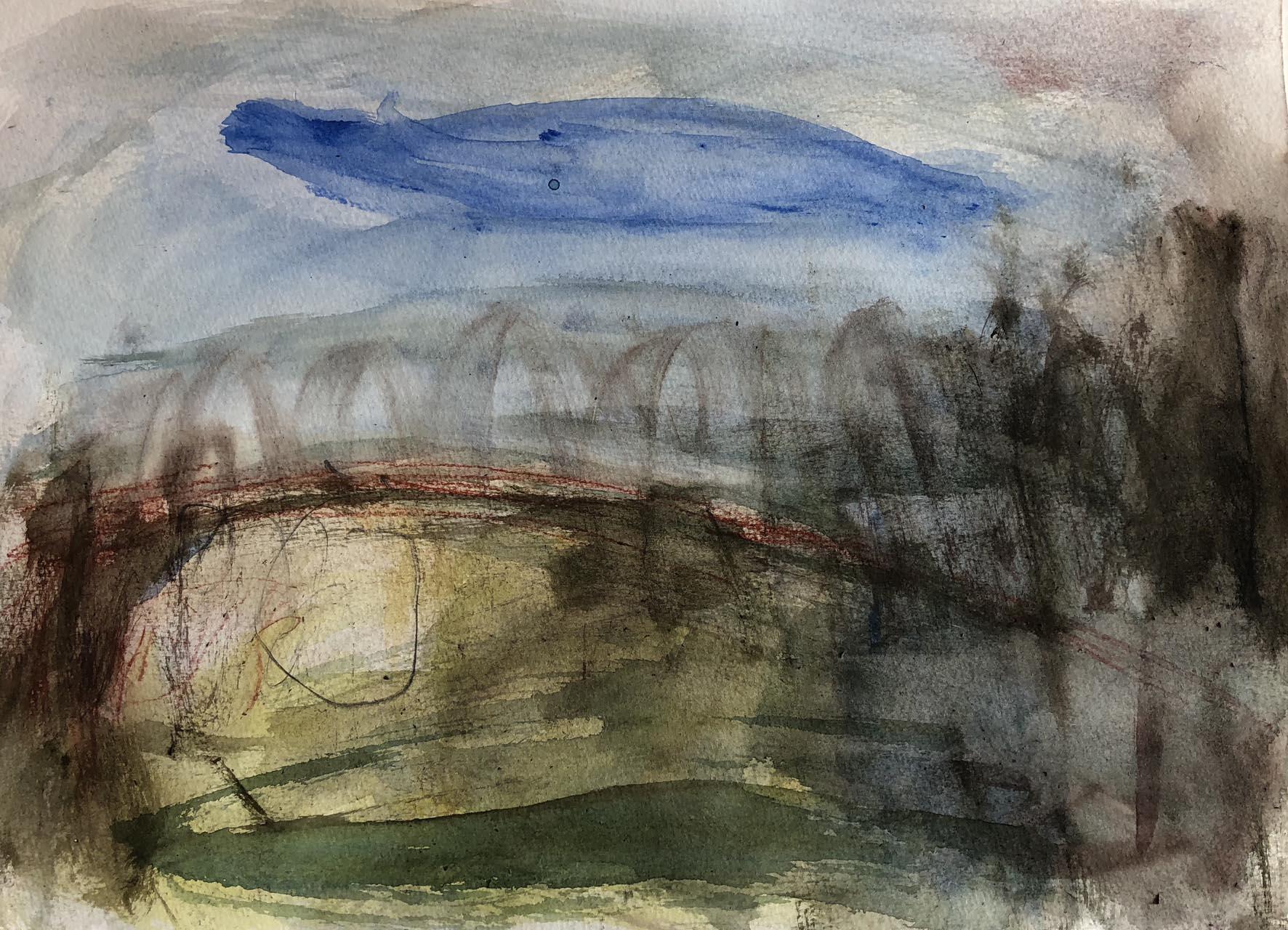 Landschaft-Cori 1-Aquarell-40×30-2018