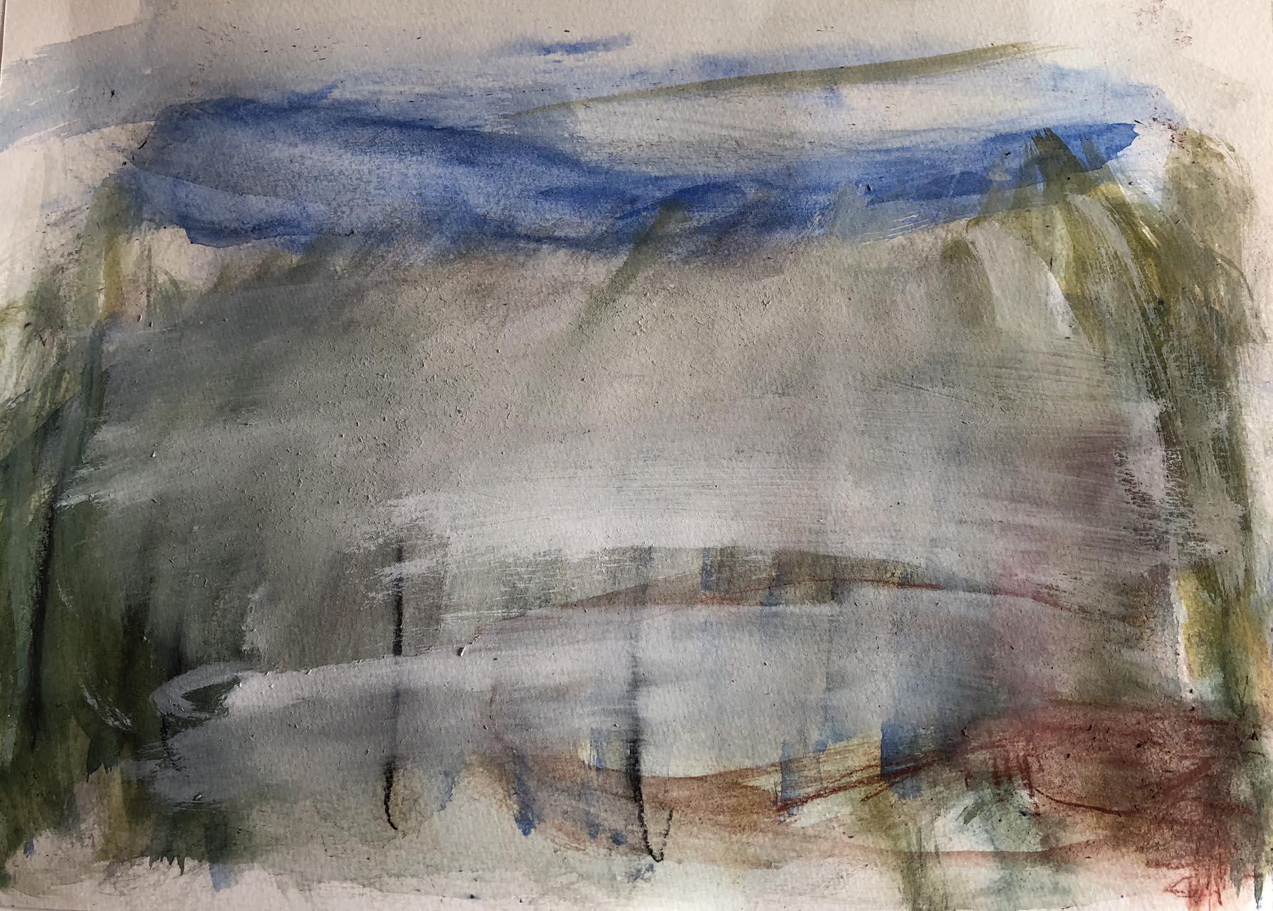 Landschaft-Cori 2-Aquarell-30×40-2018