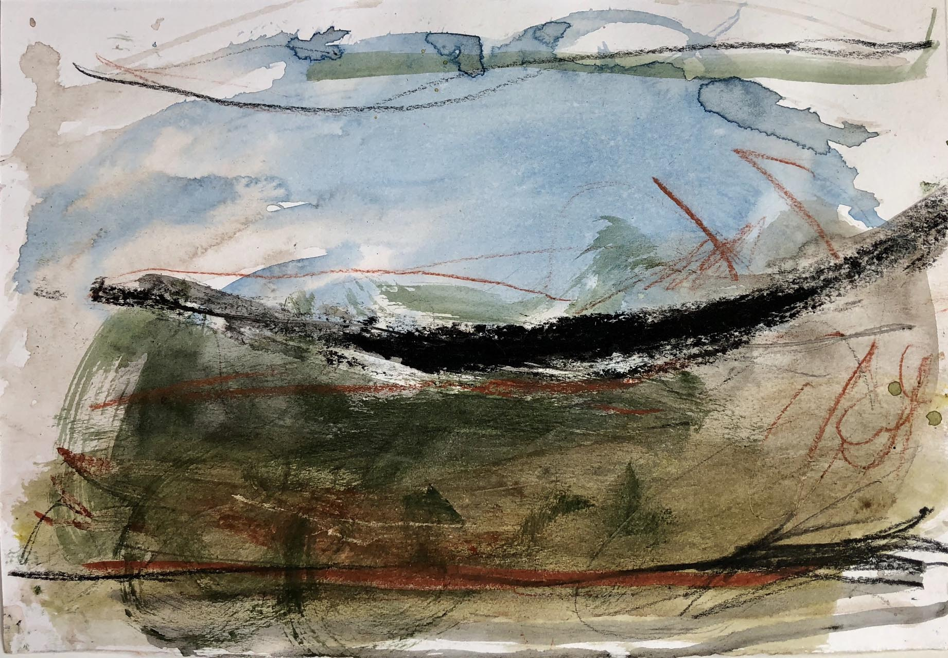 Landschaft-Cori 5-Aquarell-30×40-2016