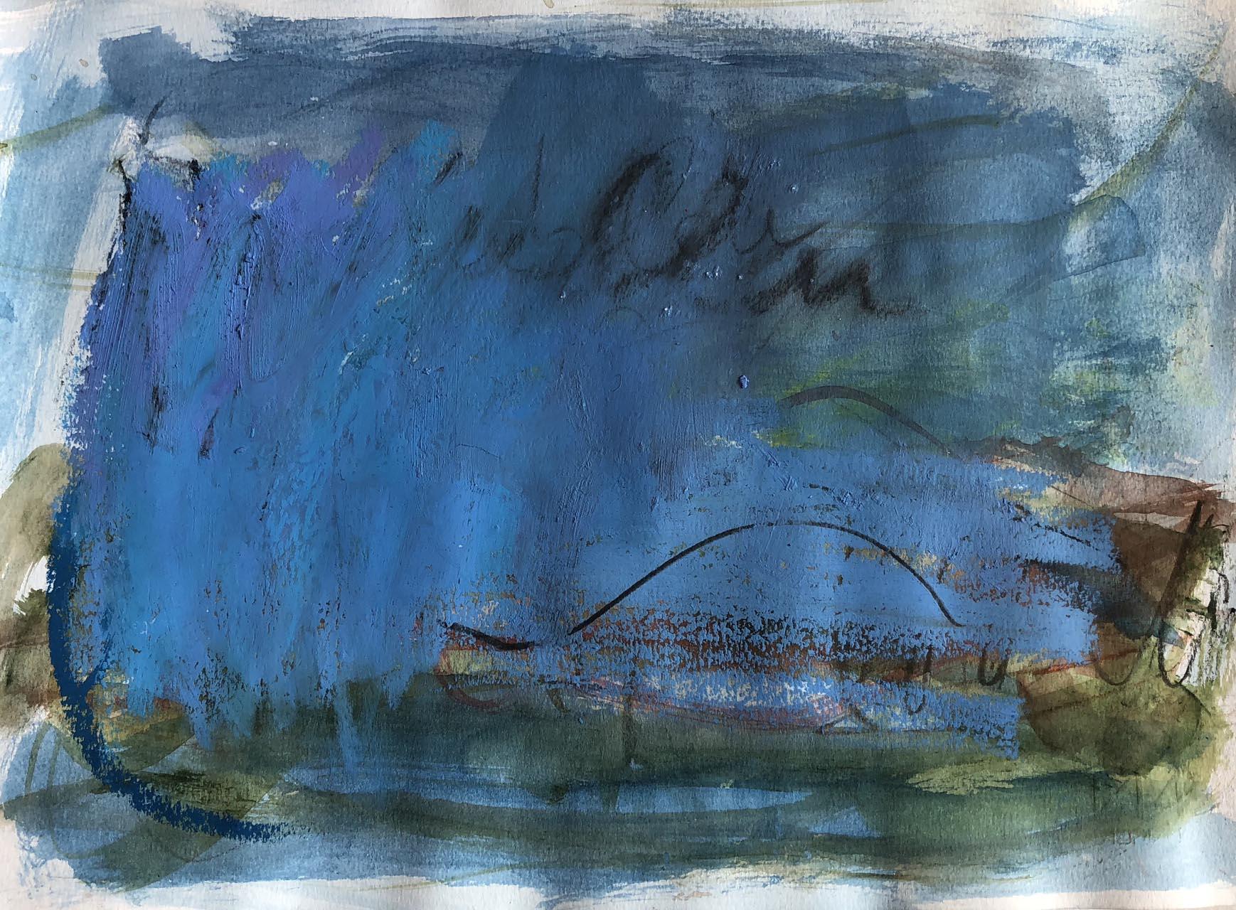 Landschaft-Cori 6-Ölpastell-30×40-2015