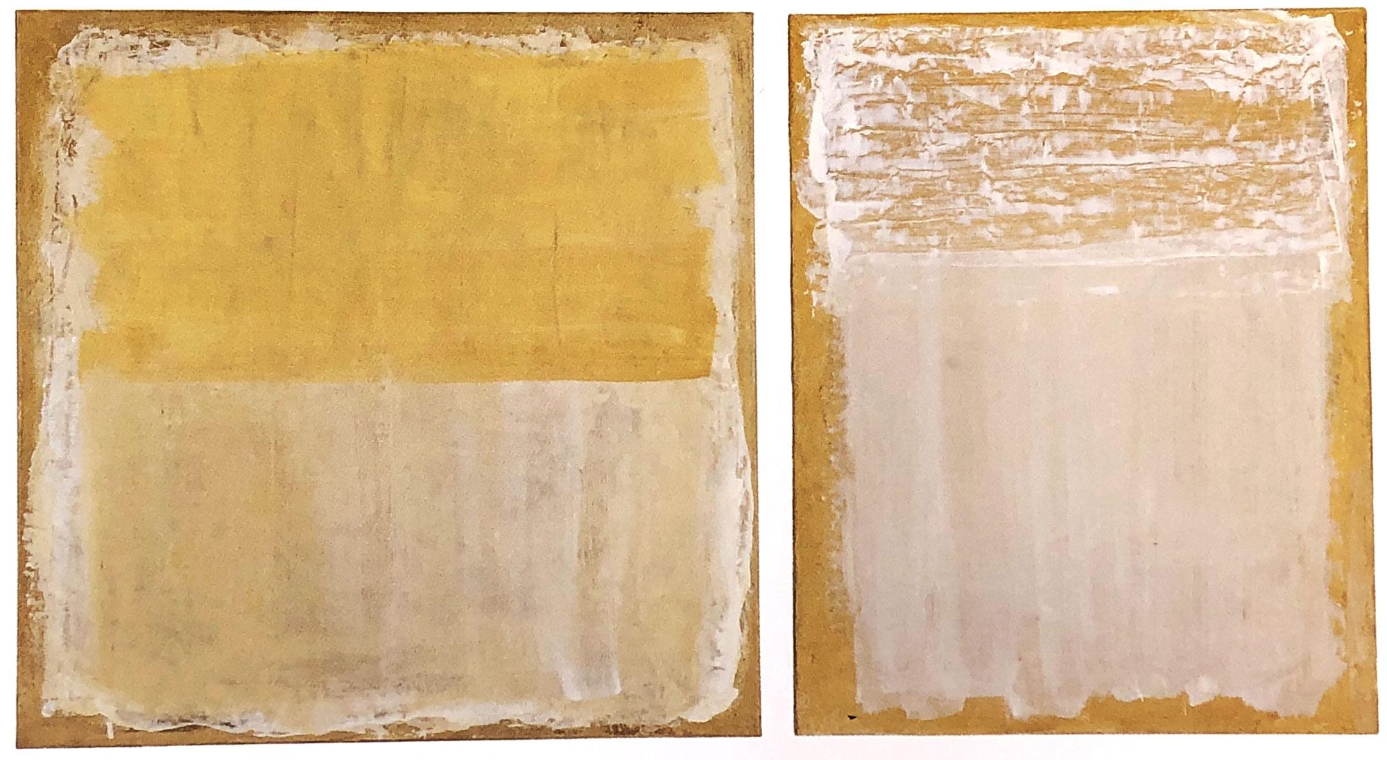 Monochrom-Diptychon-Öl-auf-Leinwand-60×60-und-50×60-1995